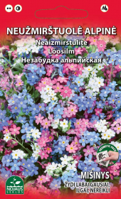 Sėklos gėlių, mužmirštuolė alpinė   0,2 g, 02-07 mėn