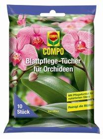 Servetėlės orchidėjų lapų priežiūrai COMPO