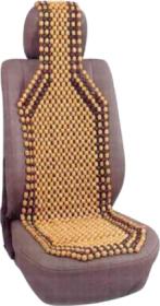 Užvalkalai automobilio sėdynėms ALBURNUS masažinis 1 vnt. Su mediniais rutuliukais