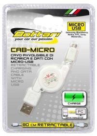 Įkrovimo ir duomenų perdavimo laidas su Micro USB jungtimi BOTTARI CAB-MICRO
