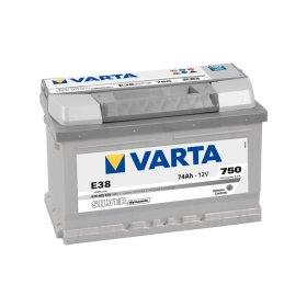 Akumuliatorius VARTA, Silver dynamic, 12V/74AH/750A, 278 x 175 x 175 mm,  E38