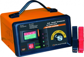 Akumuliatoriaus įkroviklis ALBURNUS DFA-9016, 6/12V Su automobilio užvedimo funkcija, automatinis, 1 m. garantija,
