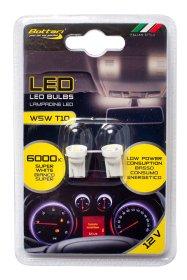 Automobilinių lempučių komplektas BOTTARI 2 PCS T10 W5W LED BULB 1SMD 5050 WHITE