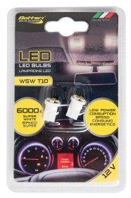 Automobilinių lempučių komplektas BOTTARI 2 PCS T10 W5W LED BULB 5SMD 3528 WHITE