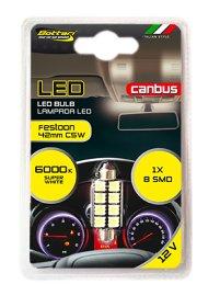 Automobilinė lemputė BOTTARI CANBUS LED BULB T11*42 8SMD 5050 WHITE