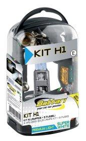 Automobilinių lempučių ir saugiklių komplektas BOTTARI KIT H1