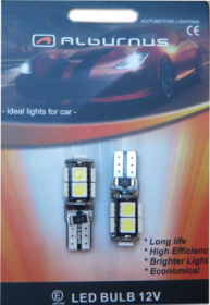 Lemputės ALBURNUS SMD, t10 9LED, AL50328