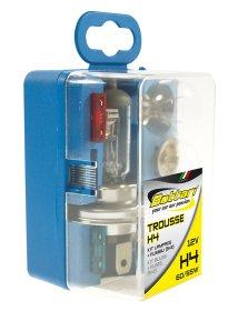Automobilinių lempučių komplektas TROUSSE H4, halogeninės su saugikliais