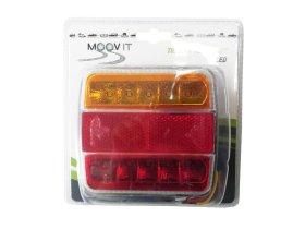 Lempų komplektas priekabai MOVIT, galinės, led, 2 vnt