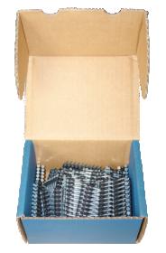 Galvanizuotos rievėtos vinys popierinėje juostoje (R-DRG-2851)