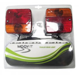 Lempų komplektas priekabai MOOVIT MAGNETIC KIT TRAILER REAR LIGHT