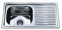 Plautuvė INOX DM-7540, 21410 75 x 40 cm, kairė, plieninė, su ventiliu, kilmės šalis Kinija