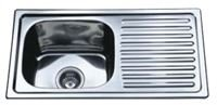 Plautuvė INOX DM-7540, 21411 75 x 40 cm, dešinė, plieninė, su ventiliu, kilmės šalis Kinija