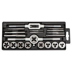 Sriegimo įrankių rinkinys TOPEX 14A425 3-12 mm, 20 vnt, (sriegikliai, vamzdinės sriegpjovės, laikikliai).
