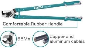 """Žirklės TOTAL, varinio ir aliuminio kabeliui, 36""""/910 mm, THT115362"""