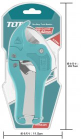 Žirklės TOTAL, PVC vamzdžiams, 3-42 mm, 193 mm, THT53425