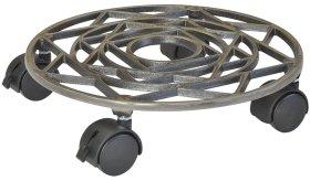 """Padėklas vazonui WAGNER iš ketus ir nikelio metalų """"ANTIK DESIGN"""", skersmuo 285mm"""