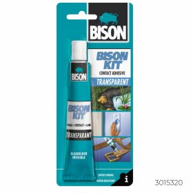 Kontaktiniai klijai BISON KIT TRANSPARENT, 50 ml BISON, N