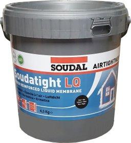 Garoizoliacinė mastika SOUDAL Soudatight LQ, juoda spalva, 4,5 kg