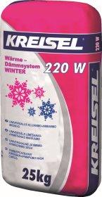 Armavimo ir klijavimo tinkas KREISEL Warm-Dams W220, Winter 25 kg Akmens vatai ir putų polistirenu, UŽS