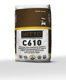 Savaime išsilyginantis mišinys  Mitto C610,  25 kg Storis 3-20 mm