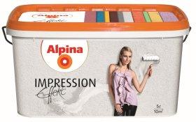 Struktūriniai dažai ALPINA Effekt Impression Weiss, 5 l