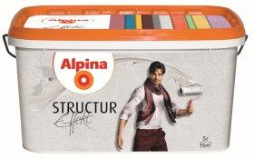 Struktūriniai dažai ALPINA Effekt Structur Weiss, 5 l