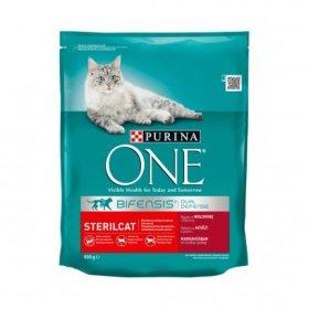 Sausas ėdalas sterilizuotoms katėms ONE 800 g