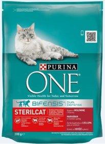 Sausas ėdalas sterilizuotoms katėms ONE 200 g
