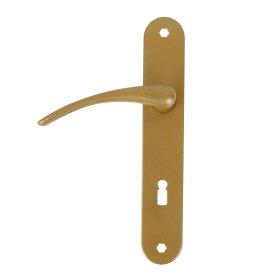 """Durų rankena  WING (63027) 72 mm, """"buratino"""" raktui, geltonos spalvos"""