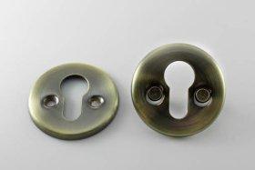 Durų apyraktė MP, MUZ-06-PZ, universali, cilindrui, sendinto žalvario spalvos, N