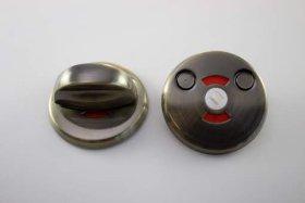 Durų apyraktė WC užsuktukas MP, MUZ-06-WC, sendinto žalvario spalvos