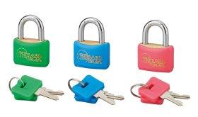 Pakabinama spyna THIRARD, 3 vnt., Color 30 mm, žalv. korp., vieno rakto sistema, 6 raktai, 293037, N
