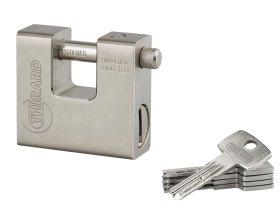 Pakabinama spyna THIRARD, Thor 74 mm, 5 raktai, stačiak., 293830