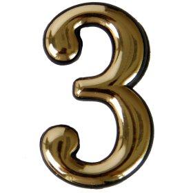 Numeriukas 3   50 - 52 mm Geltonos spalvos, klijuojamas