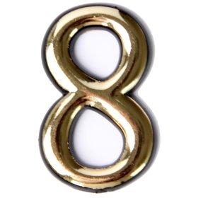 Numeriukas 8  50 - 52 mm Geltonos spalvos, klijuojamas