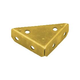 Dėžės sutvirtinimo kampas DMX, NS 75 75x75x20x2,0 mm, 8834