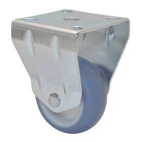Fiksuotas ratukas ECO, d-50 mm, termoplastiko guma, apkrova - 50 kg.