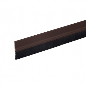 Durų sandarinimo juosta, FIX-O-MOLL, STANDARD, su šepetėliais, 1m, ruda