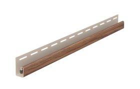 PVC J tipo profilis SV 15 SIDING VOX  Ilgis 3,05 m, auksinio ąžuolo spalvos