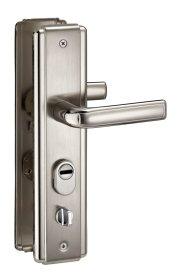 Durų rankena THIRARD, kiniškoms durims 68mm kairė, sidabro sp., 593539