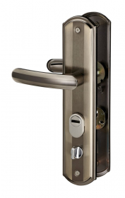 Durų rankena THIRARD, kiniškoms durims 68mm dešinė, ruda sp., 593540
