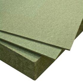 Medžio plaušo plokštė  MPP Izoliacinė grindims, žalios spalvos, matmenys 590 x 790 x 7 mm