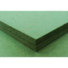 Medžio plaušo plokštė  MPP Izoliacinė grindims, žalios spalvos, matmenys 590 x 790 x 12 mm