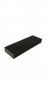 Kempinė šlifavimui 225x76x25  P150 AO keturpusė, pilka