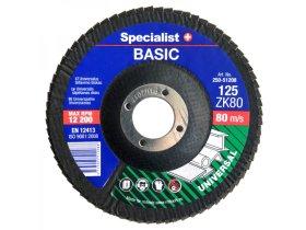 Žiedlapinis šlifavimo diskas SPECIALIST Basic, 125 mm, Nr. 80