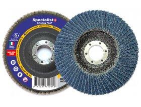 Žiedlapinis šlifavimo diskas SPECIALIST, 125 mm, cirkonis, Nr. 80