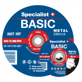 Metalo pjovimo diskas SPECIALIST Basic, 125x1,2x22 mm