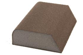 Figūrinė šlifavimo kempinė FLEXIFOAM, P100, 98 x 69 x 26 mm