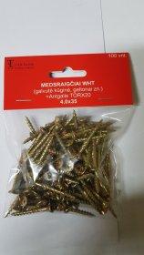 Medsraigčiai WHT 4,0 x 35 mm WHT 100 vnt., ZN